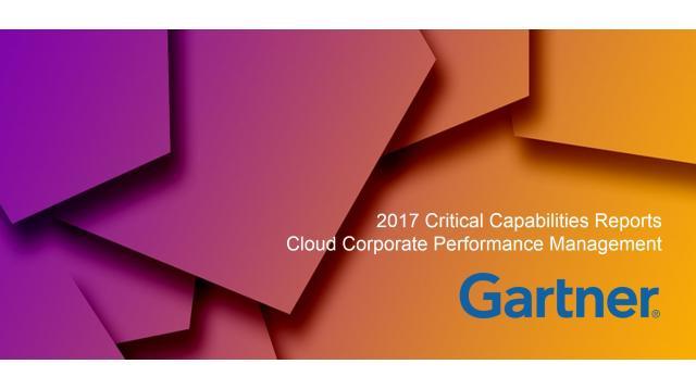 Gartner 2017 Critical Capabilities Cloud CPM Reports