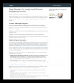 Gartner 2020 Analytics & BI Magic Quadrant Report